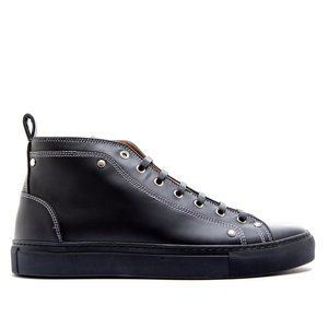 Givenchy Men's Leather Black Mid Top  Sneakers